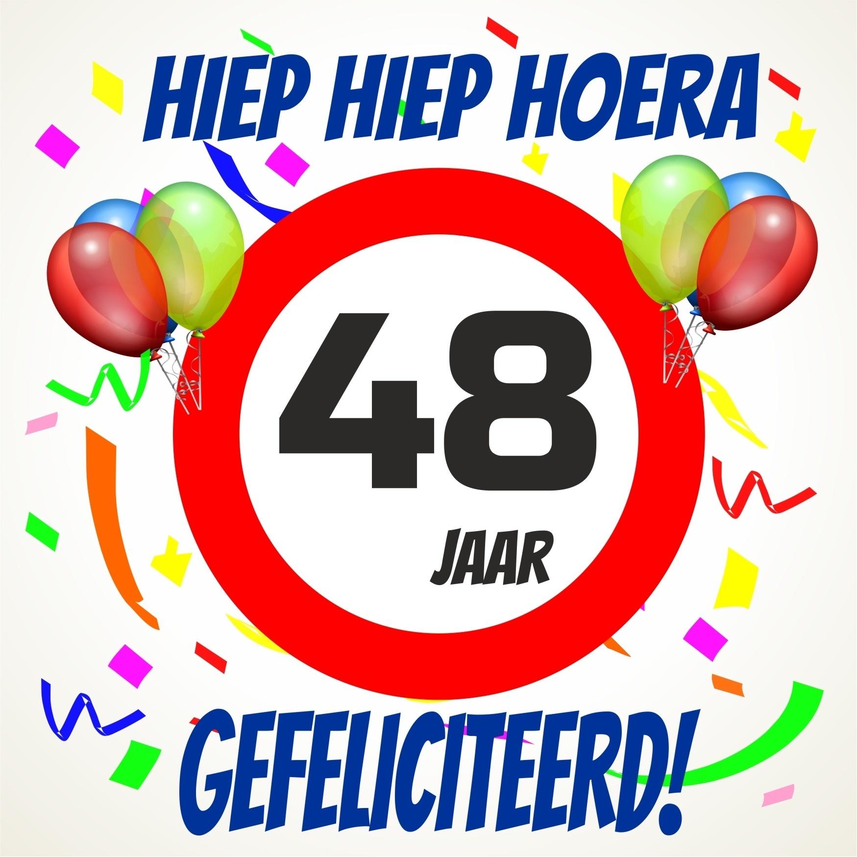 48 jaar Verjaardags tegeltje 48 jaar voordelig bij  48 jaar