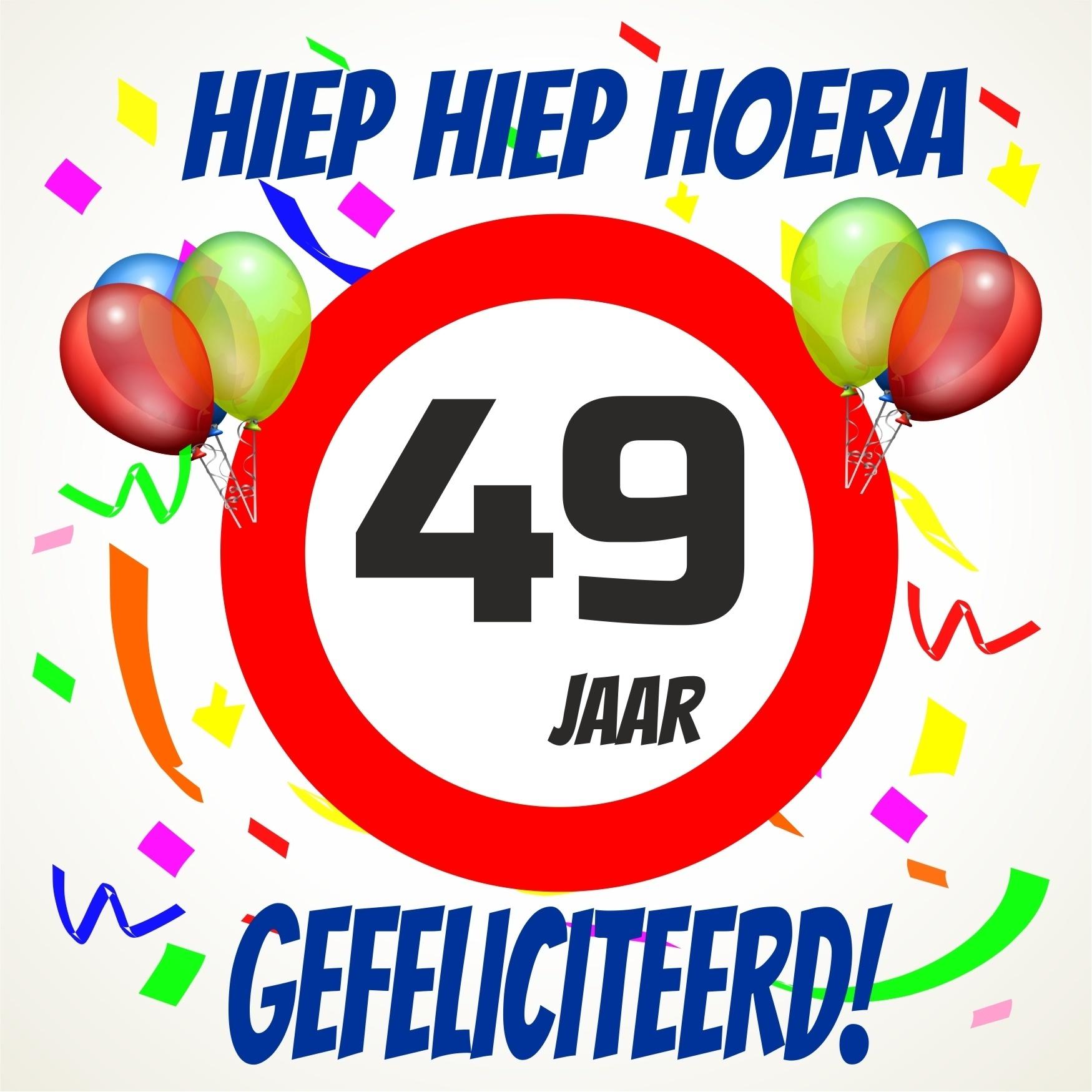 Verjaardags Tegeltje 49 Jaar Voordelig Bij