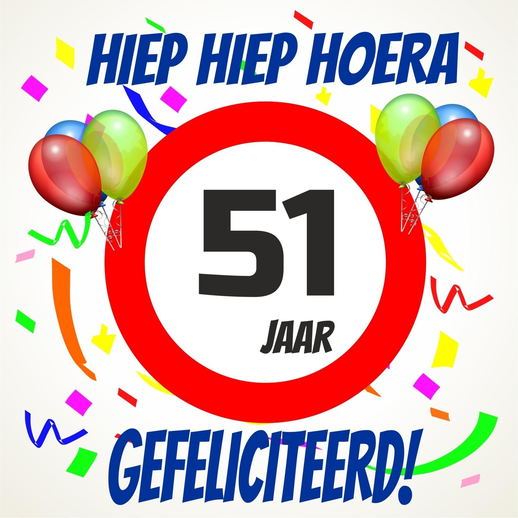 51 jaar Verjaardags tegeltje 51 jaar voordelig bij  51 jaar