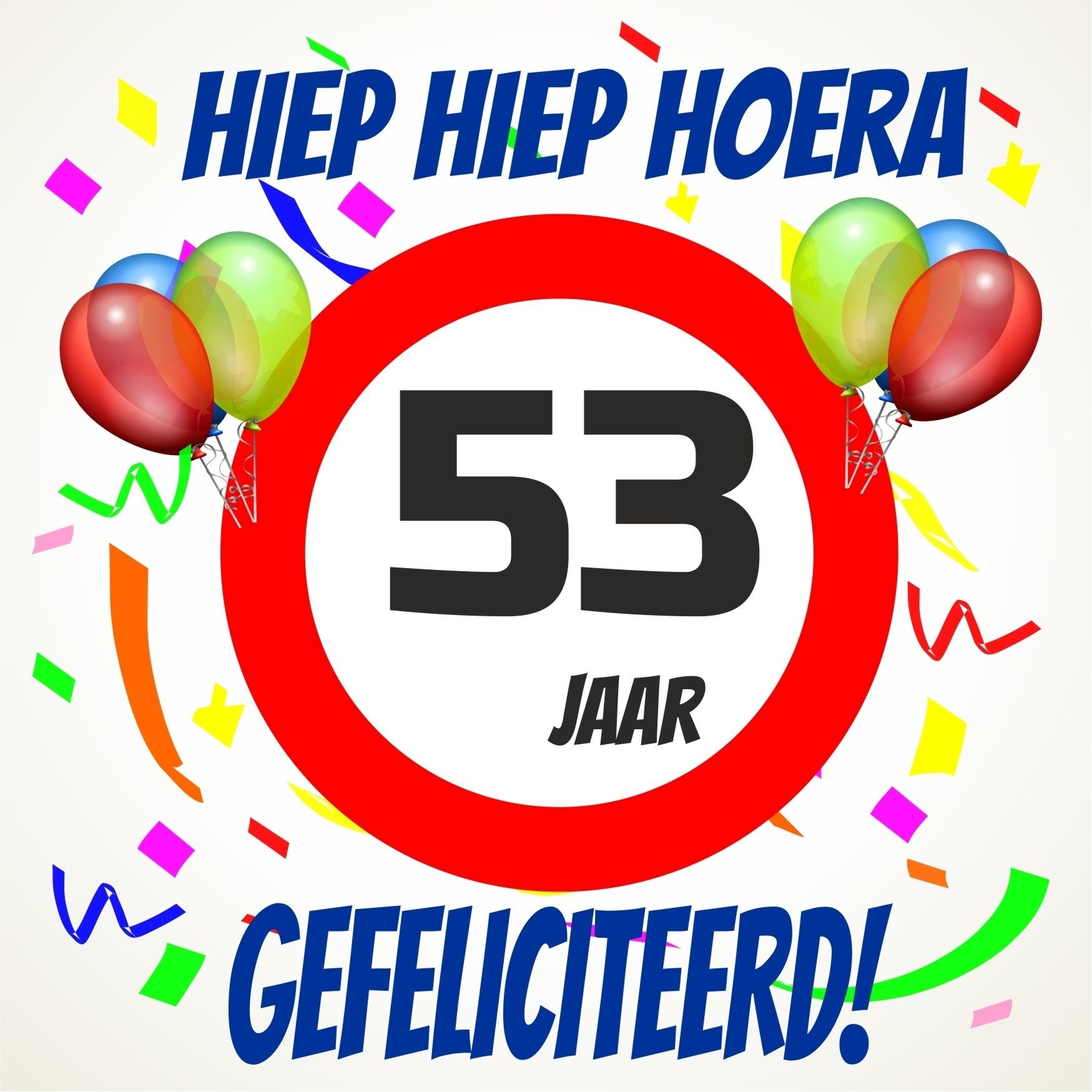 53 jaar Verjaardags tegeltje 53 jaar voordelig bij  53 jaar