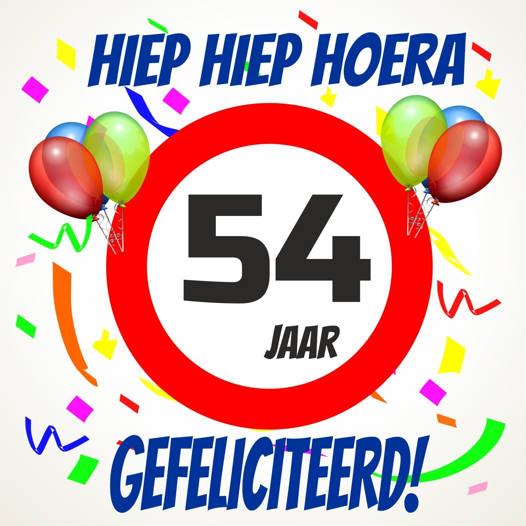 54 jaar Verjaardags tegeltje 54 jaar voordelig bij  54 jaar