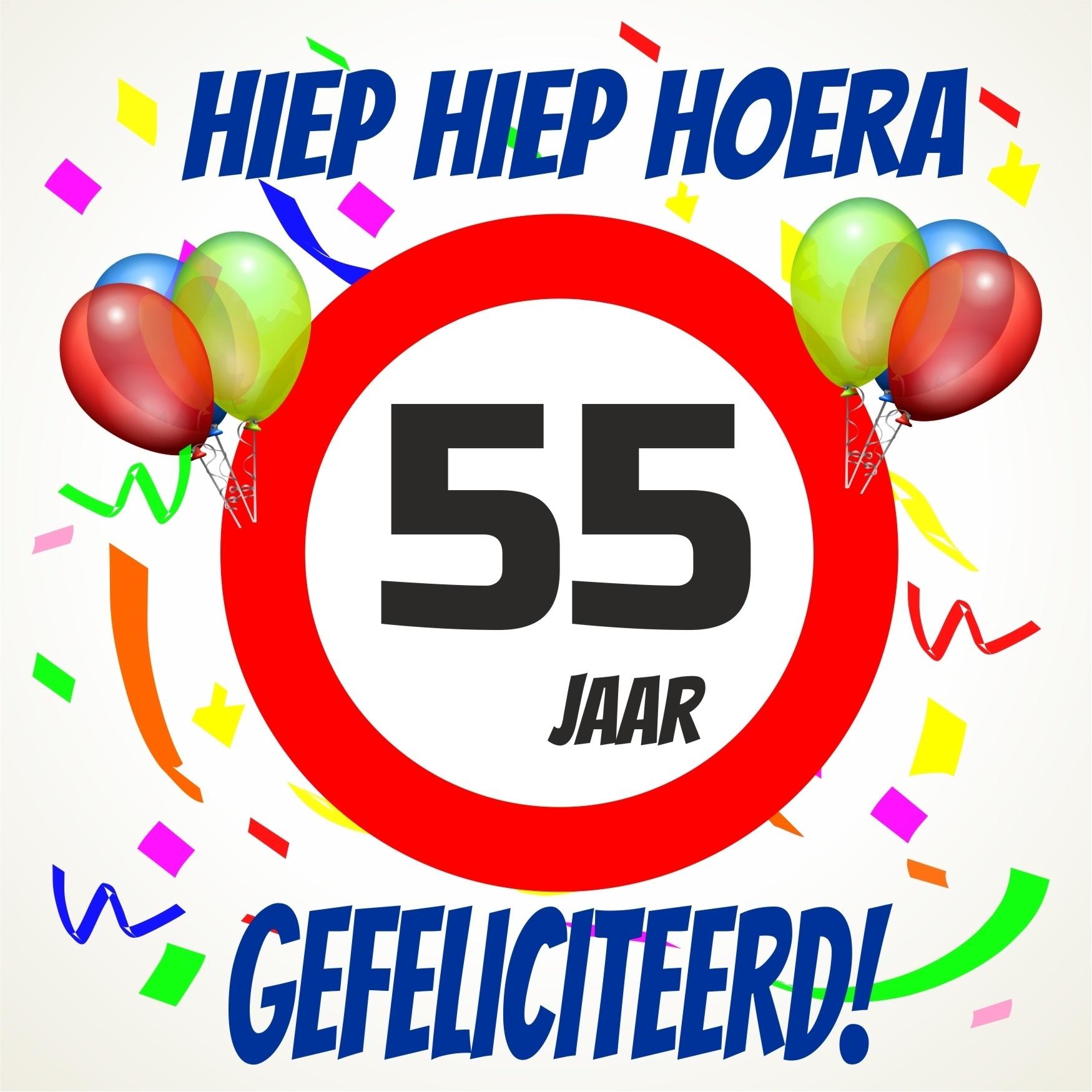 Verjaardags Tegeltje 55 Jaar Voordelig Bij