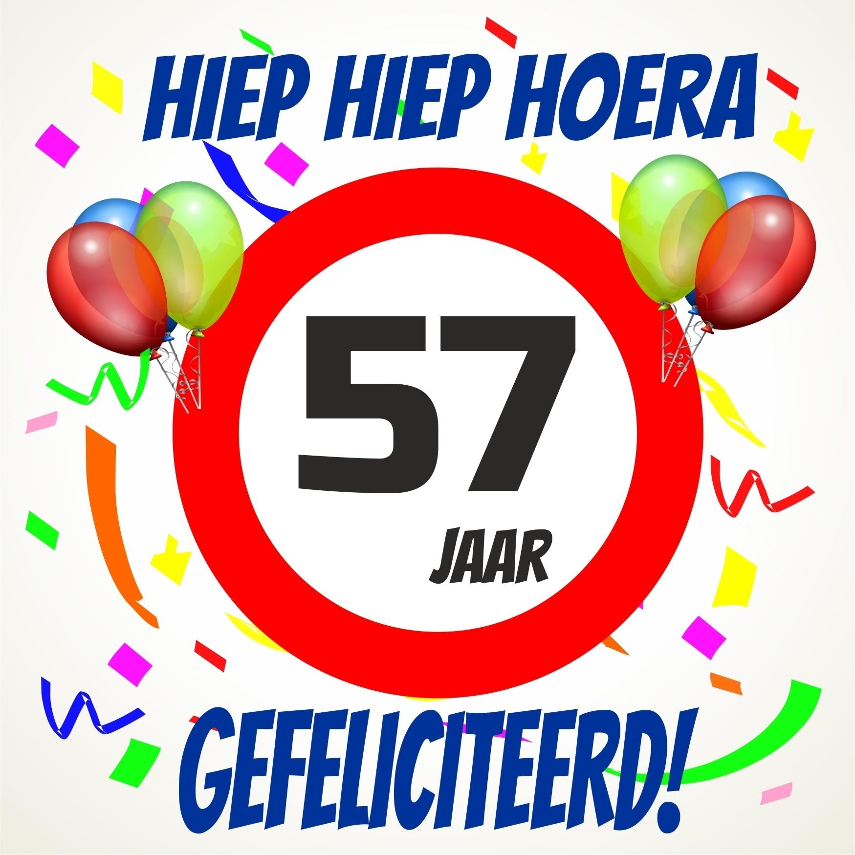 57 jaar Verjaardags tegeltje 57 jaar voordelig bij  57 jaar
