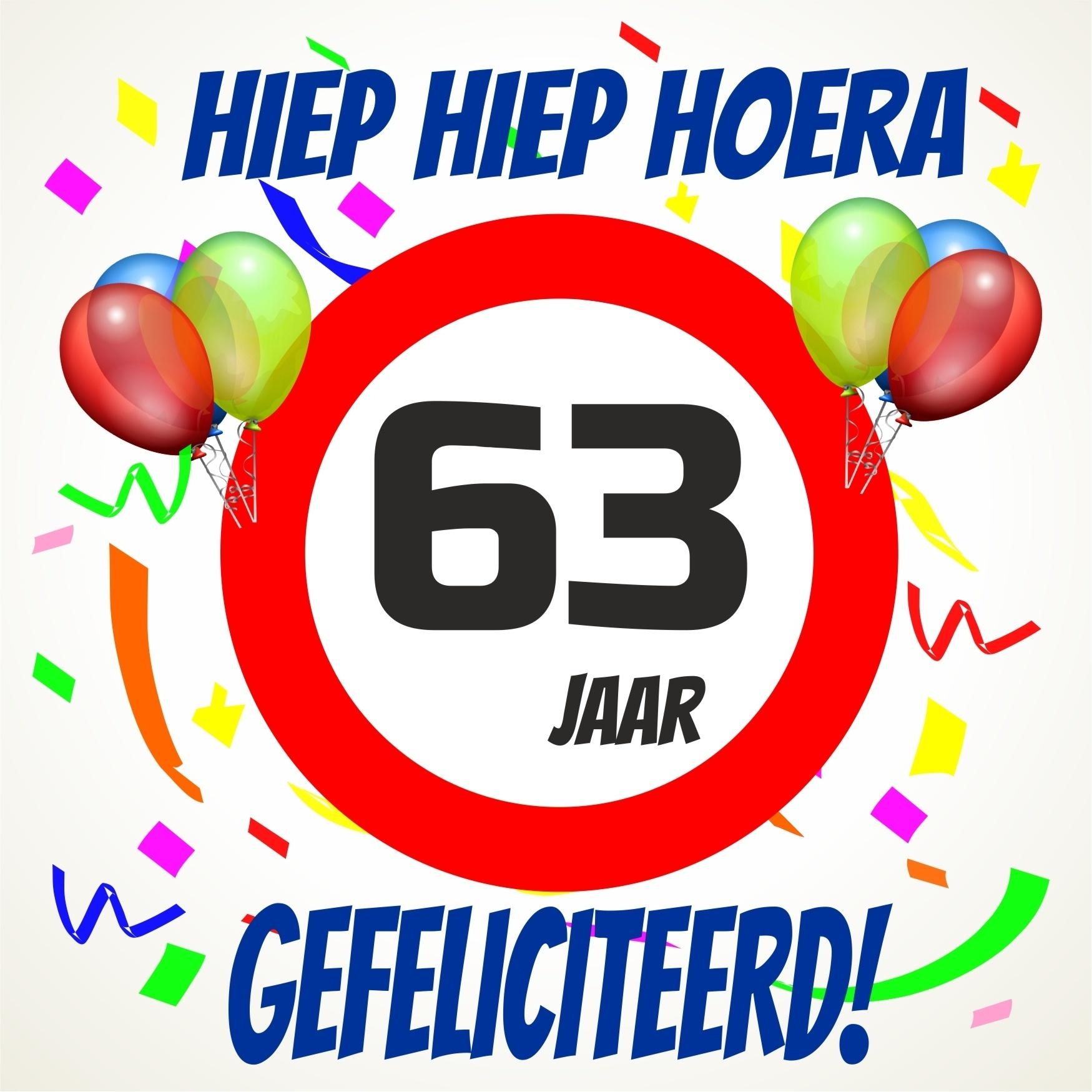 63 jaar Verjaardags tegeltje 63 jaar voordelig bij  63 jaar