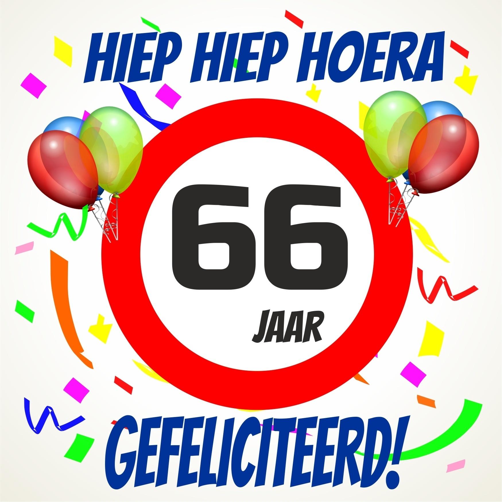 66 jaar Verjaardags tegeltje 66 jaar voordelig bij  66 jaar