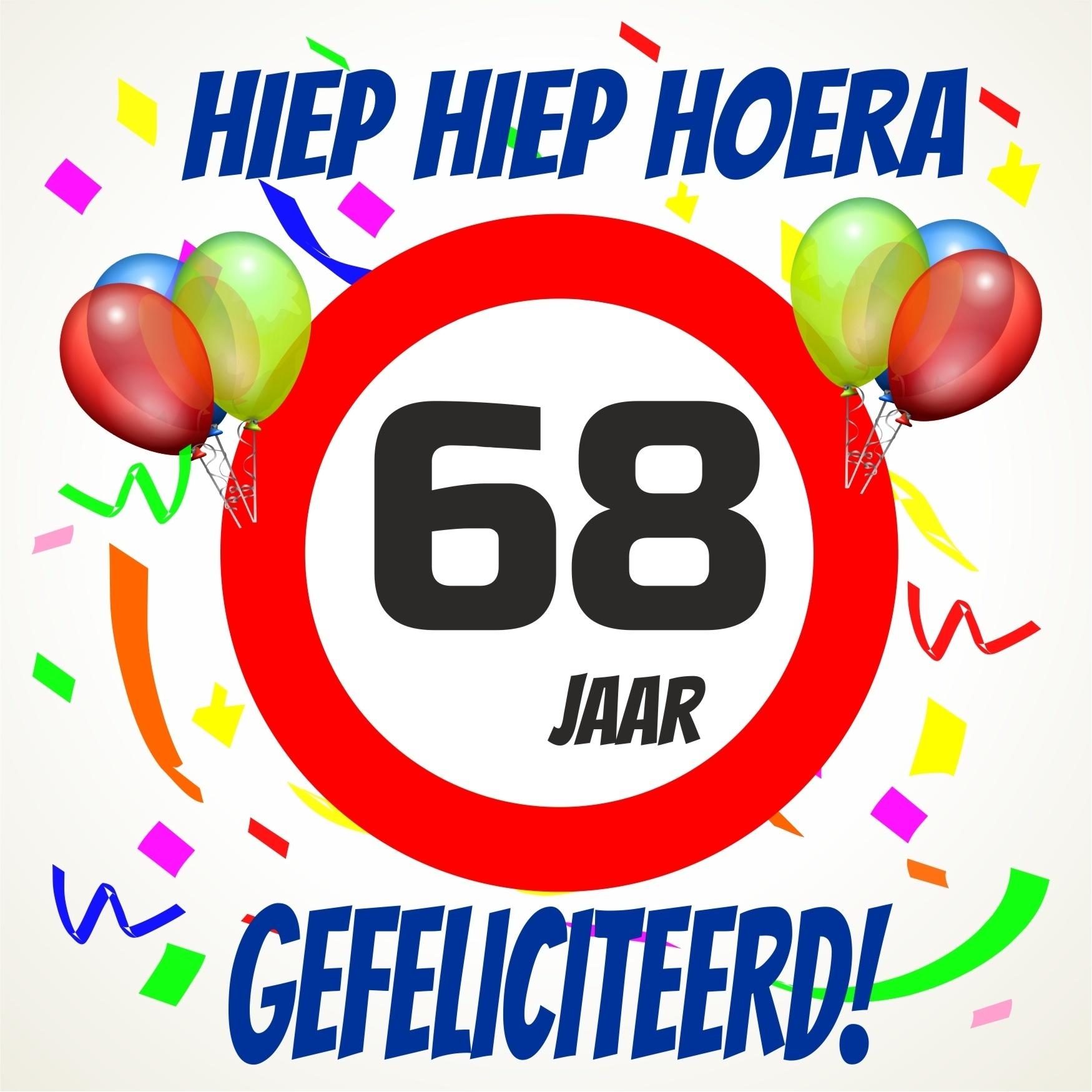 68 jaar Verjaardags tegeltje 68 jaar voordelig bij  68 jaar