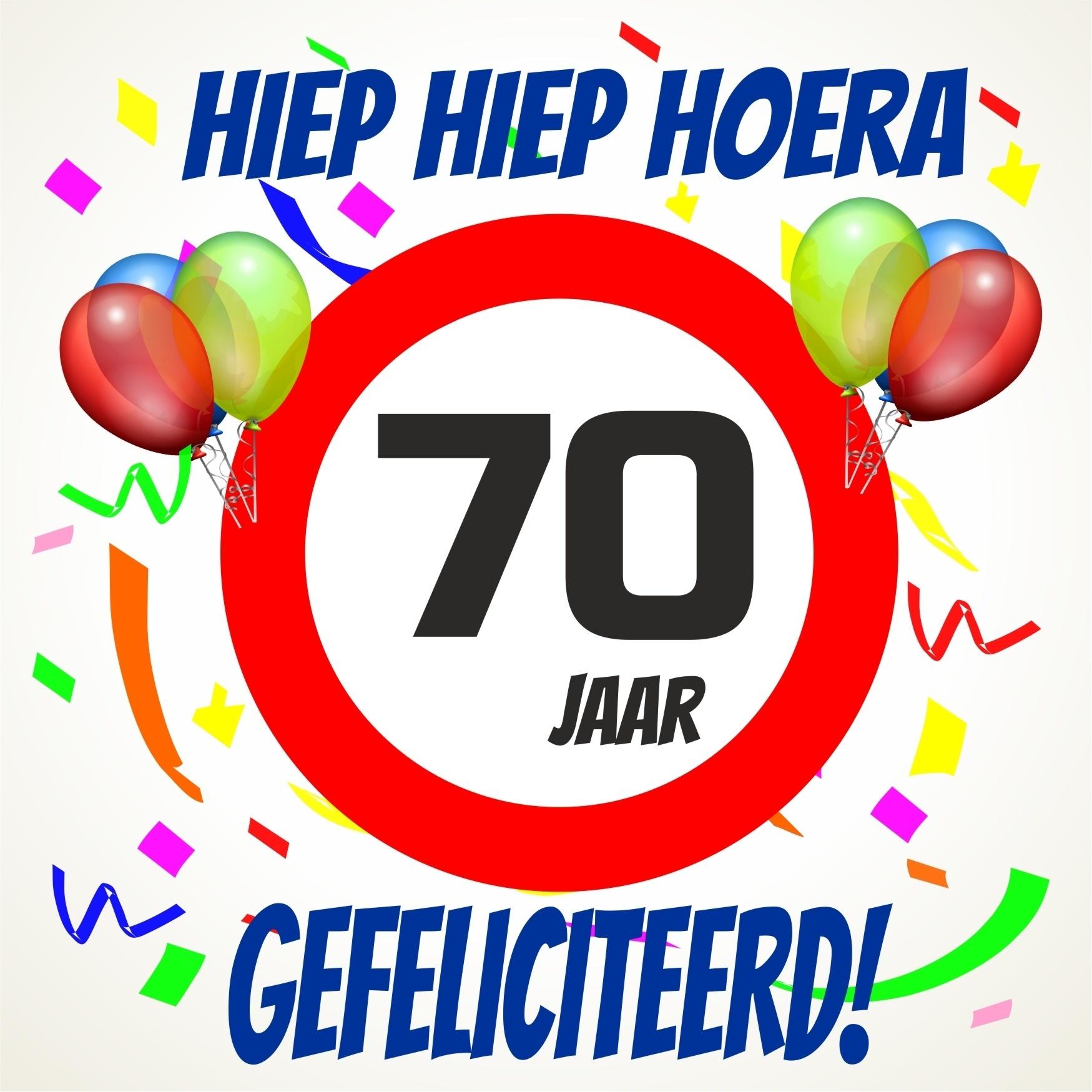 70 jaar Verjaardags tegeltje 70 jaar voordelig bij  70 jaar
