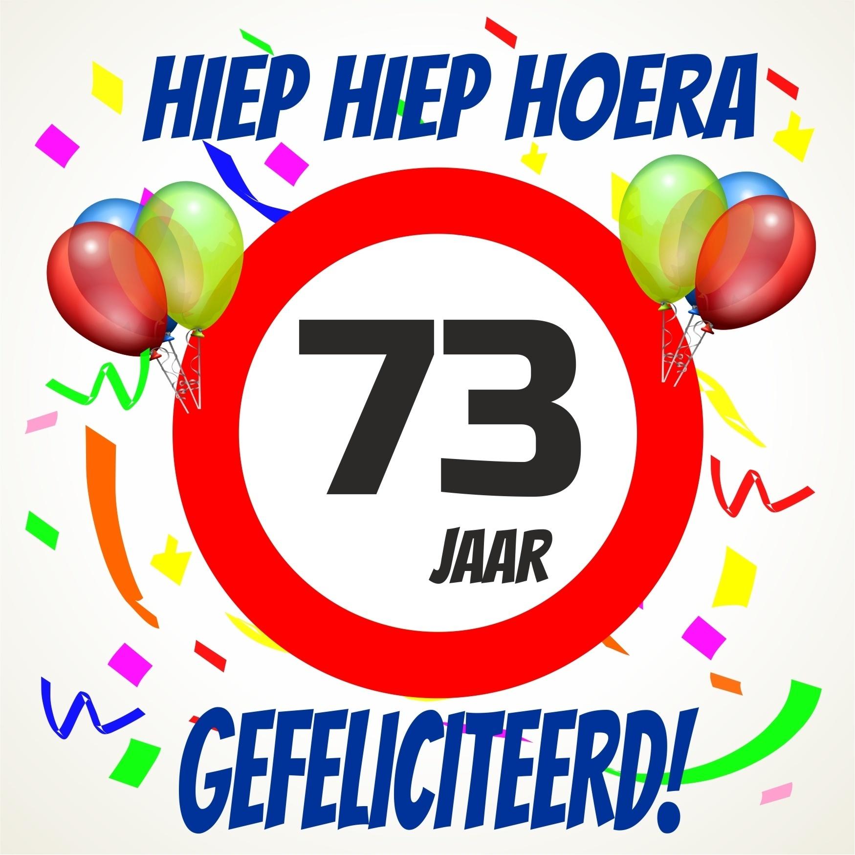 73 jaar Verjaardags tegeltje 73 jaar voordelig bij  73 jaar