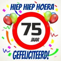 Verjaardags tegeltje 75 jaar