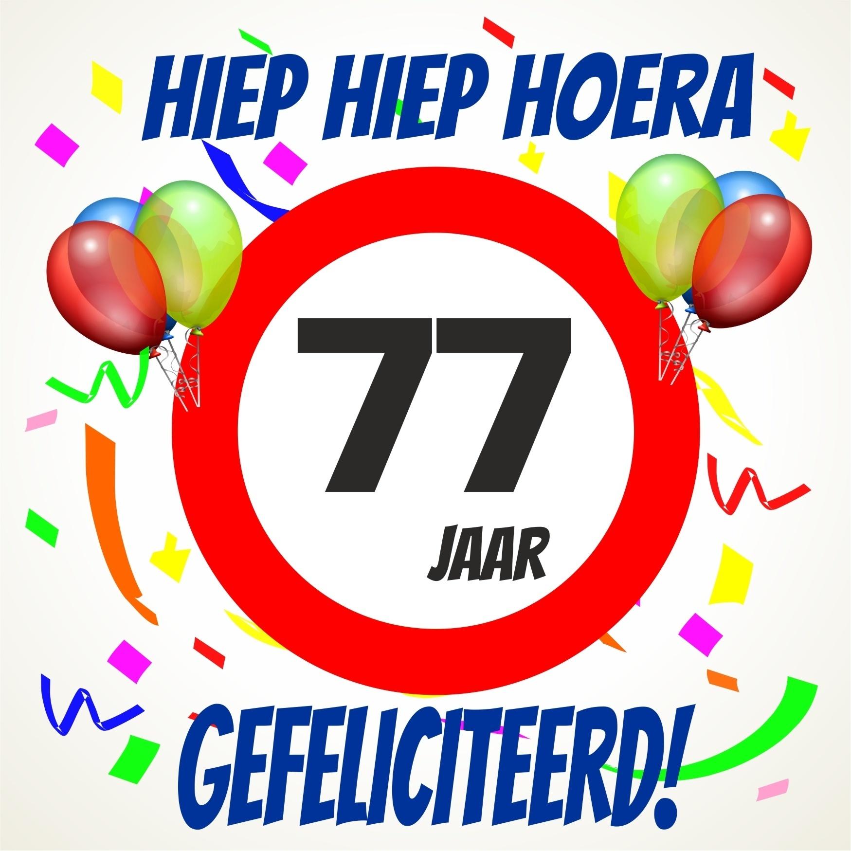 77 jaar Verjaardags tegeltje 77 jaar voordelig bij  77 jaar