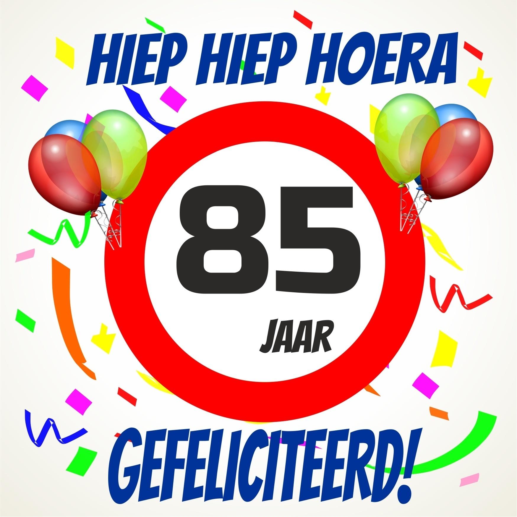 85 jaar Verjaardags tegeltje 85 jaar voordelig bij  85 jaar