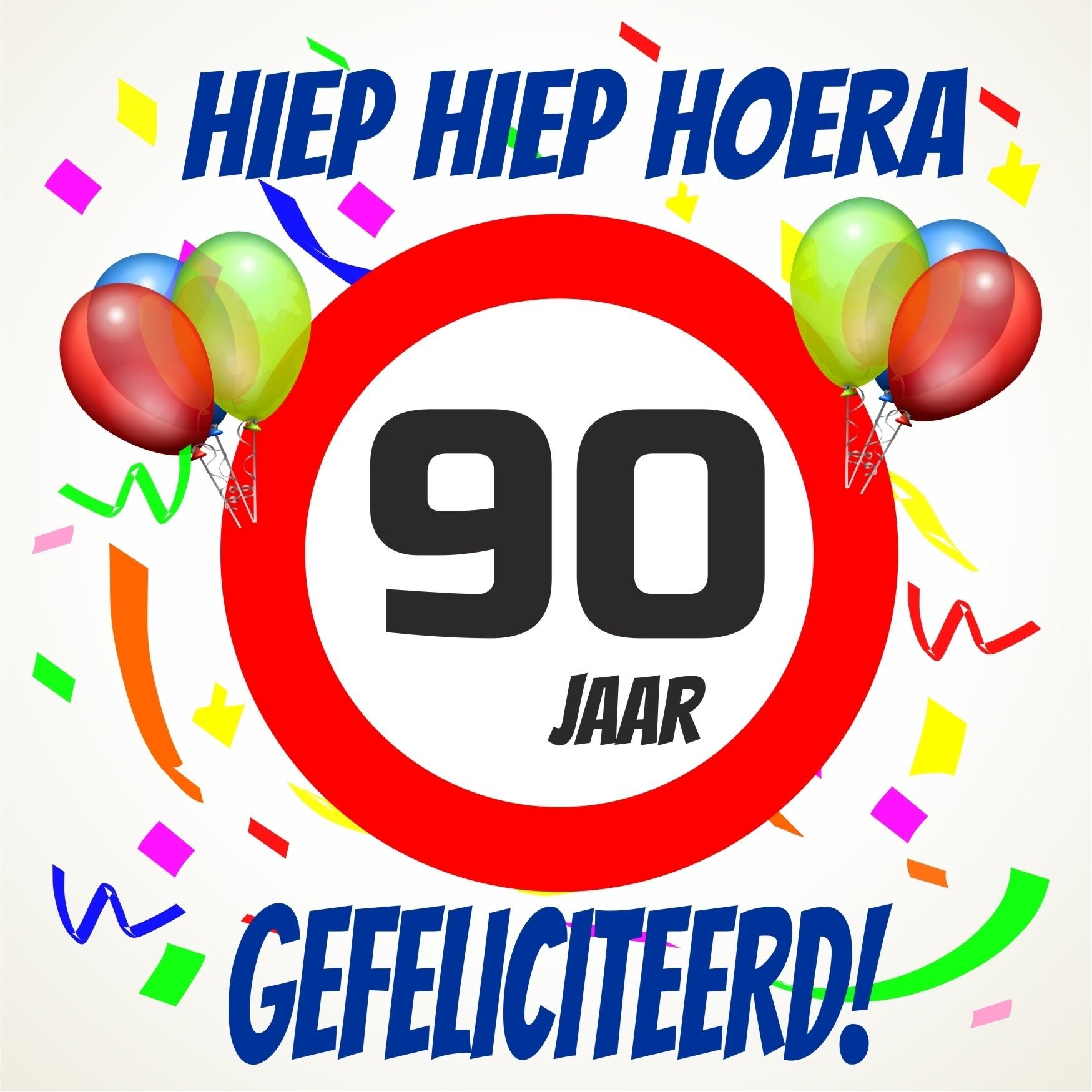 90 jaar Verjaardags tegeltje 90 jaar voordelig bij  90 jaar