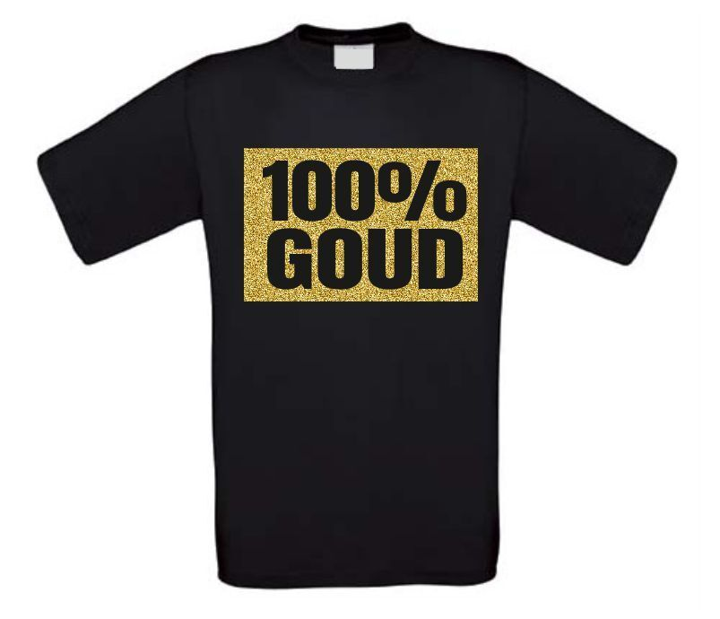 100 procent goud shirt