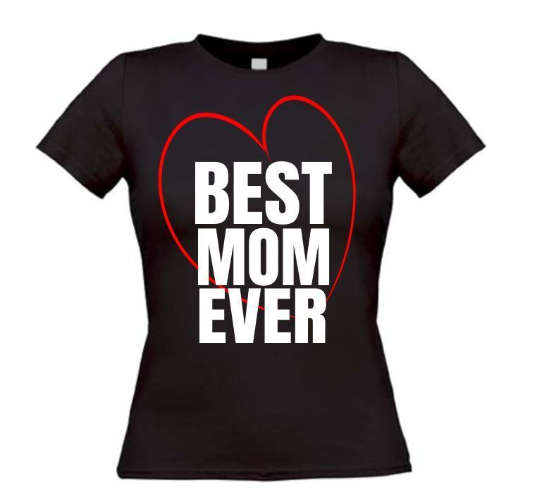 Moederdag t-shirt best mom ever