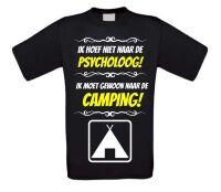 Grappig camping T-shirt