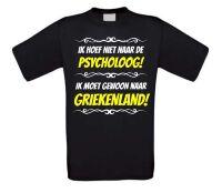 Grappig vakantie T-shirt Griekenland