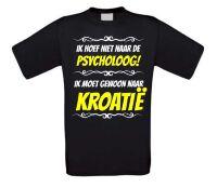 Grappig vakantie T-shirt Kroatie