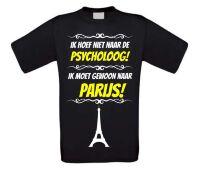 Grappig vakantie T-shirt Parijs
