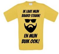 Supergrappig T-shirt Ik laat mijn baard staan en snor ook!
