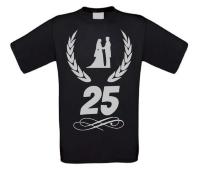 Zilveren huwelijk T-shirt