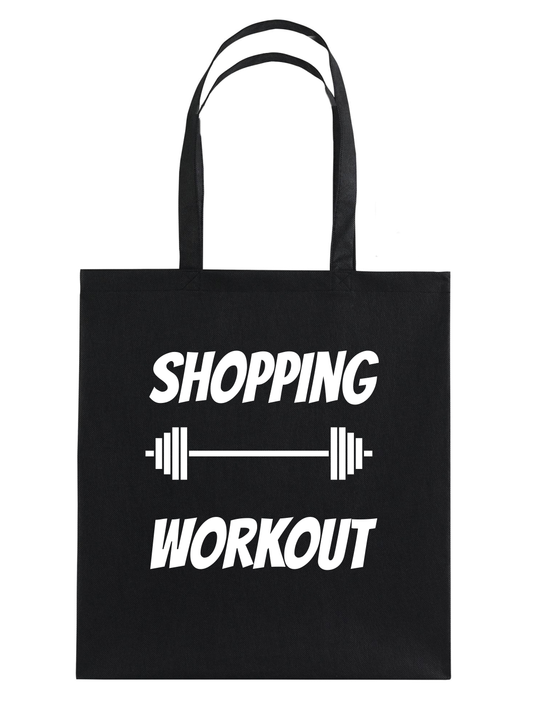 shopping workout katoenen tas