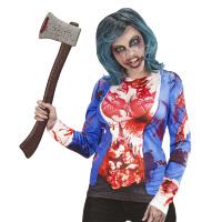 Longsleeve bloody lady zombie dames