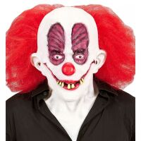 Crazy killerclown masker met haar en verrotte tanden
