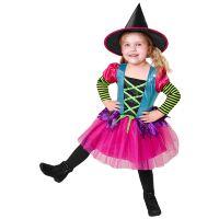 Heks Lara regenboog kleurrijk heksenjurk kind