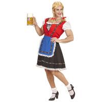 Oktoberfest travestiet dirndl jurk voor mannen