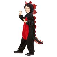 Rood zwarte draak draken kostuum kind