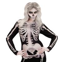 Skelet botten shirt met lange mouwen dames foto realistisch