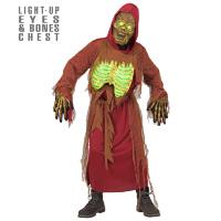 Zombie lichtgevend kostuum jongen skeleton