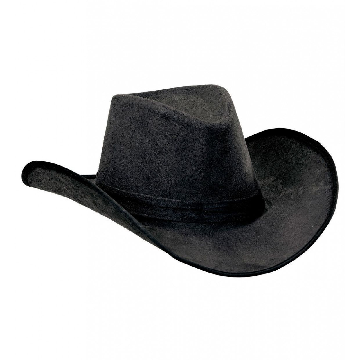 Zwarte suede cowboyhoed Mike