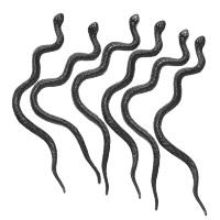 Decoratie zwarte slangen 12,5 cm halloween