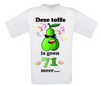 Fun shirt toffe peer 72 jaar verjaardag
