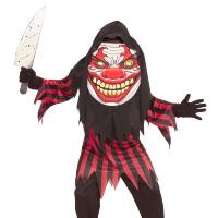Grappig horror clown kostuum met groot masker kostuum kids