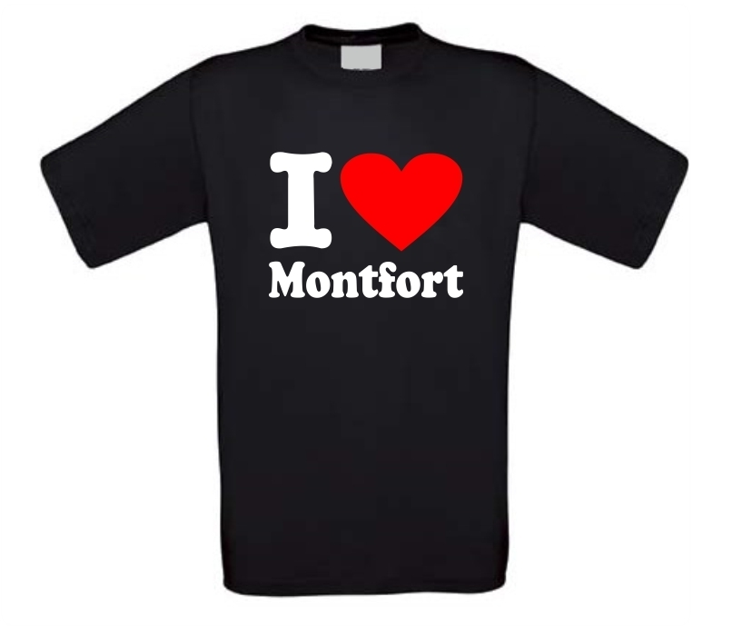 I love Montfort T-shirt