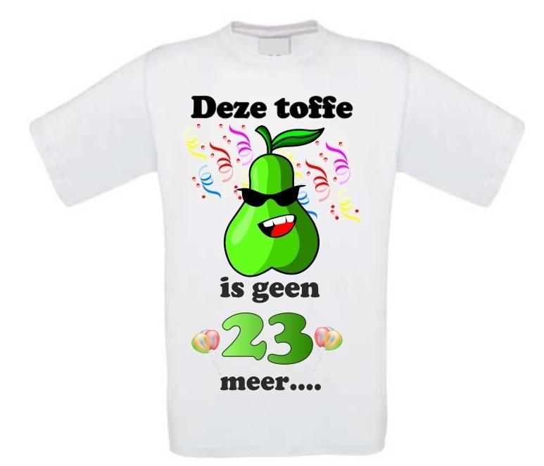 Vaak Leuk verjaardag shirt 24 jaar toffe peer &TR68