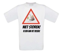 T-shirt niet storen ik ben aan het vissen