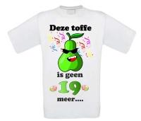 Toffe peer shirt verjaardag leeftijd 20 jaar