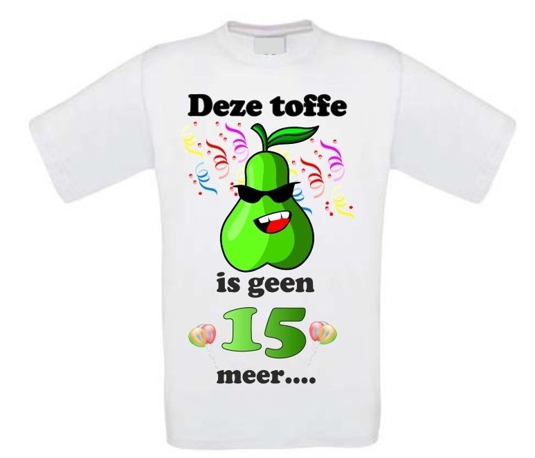 Verjaardag Shirt Toffe Peer 16 Jaar Bbwebwinkel Nl