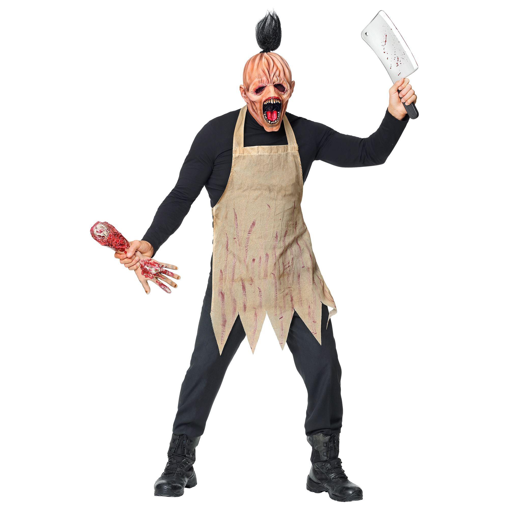 Halloween Schort.Halloween Masker Bloederige Slager Met Schort