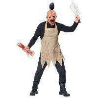 Halloween masker bloederige slager met schort