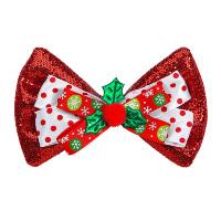 Kerst vlinderstrik glitter rood
