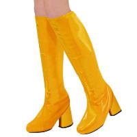 Laarskappen retro dames oranje glanzend