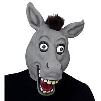 Masker vrolijke ezel met grote ogen volwassen