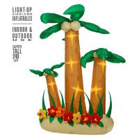 Opblaasbare palmbomen tropisch 3 stuks 240 cm met verlichting