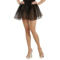 Petticoat zwart doorschijnend volwassen