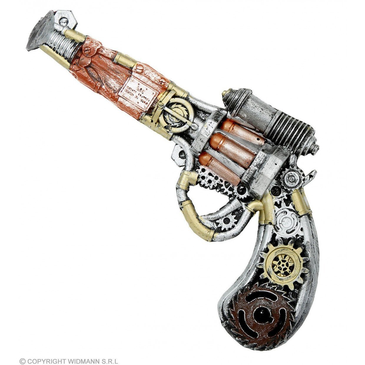 Steampunk pistool latex 32 cm
