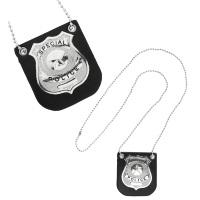 Badge politie met klem mr arrest